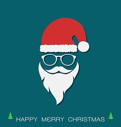 Santa hats and beards and eyeglasses vector
