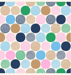 seamless childish abstract colorful dots pattern vector image