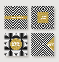 set of abstract design vector image
