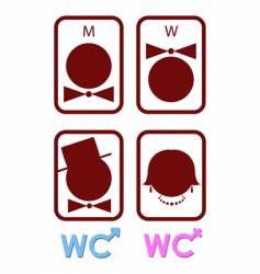 Set of icons for wc vector