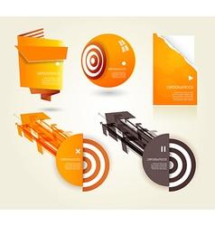 Set orange labels for wide variety use vector