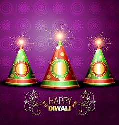 Shiny diwali crackers vector