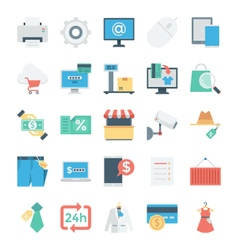 Shopping and E Commerce Colored Icons 6 vector