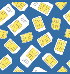 sim card seamless pattern background vector image