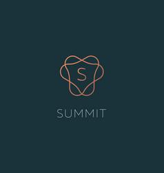 simple elegant letter s icon logotype vector image