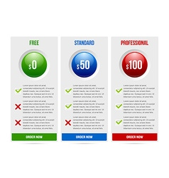 Subscription plan template vector image
