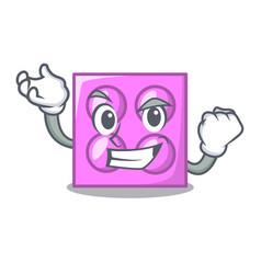 Successful toy brick character cartoon vector