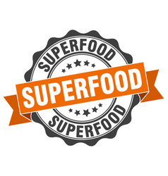 superfood stamp sign seal vector image