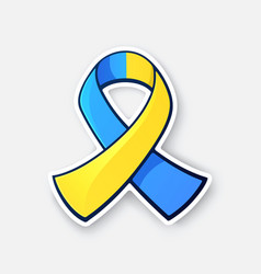 symbol world down syndrome day vector image