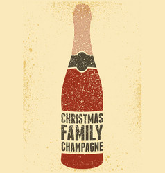 Typographic retro grunge christmas poster vector