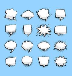 variety bubble speech set vector image
