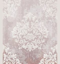 vintage baroque pattern beautiful ornament vector image