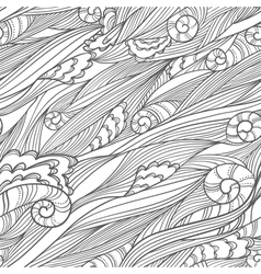 Waves doodle seamless vector