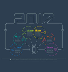 web template 2017 of a info chart diagram or vector image