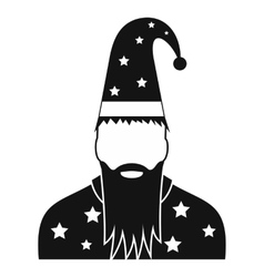Wizard in a hat with stars vector image