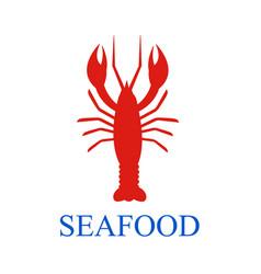 lobster seafood menu background vector image