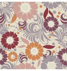 seamless vintage floral vector image