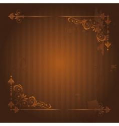 vintage background with grunge elements vector image vector image