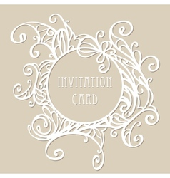 Vintage lace frame vector image vector image