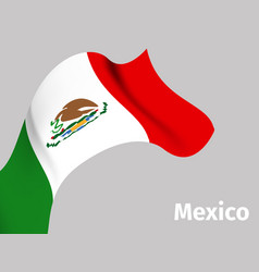 background with mexico wavy flag vector image vector image