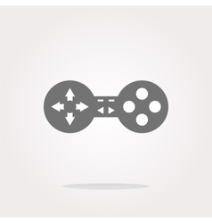 game controller web icon button isolated vector image vector image
