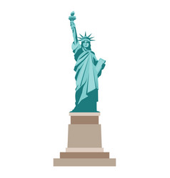 isolated statue of liberty on white background vector image vector image