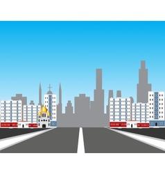 Road in city vector image vector image