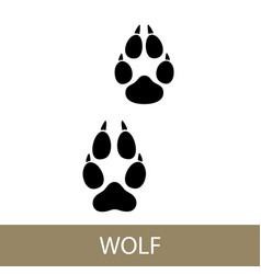 trace of animal walf vector image