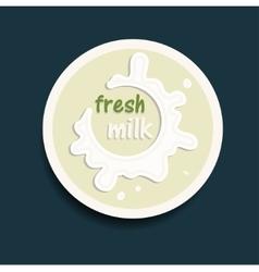 fresh milk icon vector image