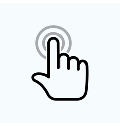 hand is touching vector image vector image