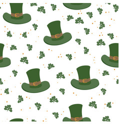 saint patricks day seamless pattern celebration vector image vector image