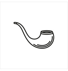 tobacco pipe simple icon on white background vector image vector image