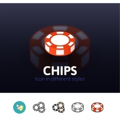 Chips icon in different style vector image vector image