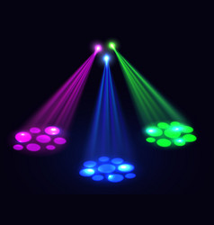 Club lights background spotlights effect vector image vector image