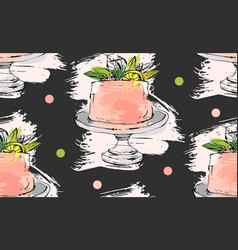 hand drawn cute birthday or wedding vector image vector image