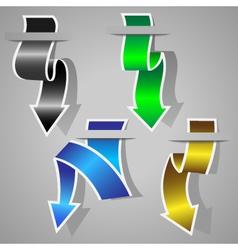 original arrow stickers set vector image vector image