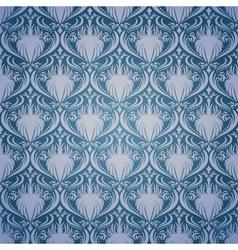 Vintage seamless damask pattern vector image vector image