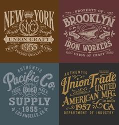 Vintage Workwear Graphics Set vector image