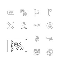 13 banner icons vector