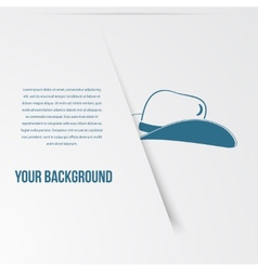 Abstact hat template Corporate icon vector