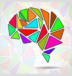 abstract geometric human brain vector image
