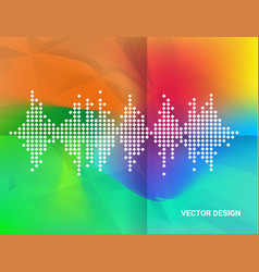 Abstract geometric wave color background vector