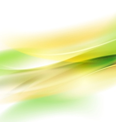 Abstract smooth green flow background for nature vector