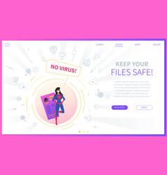 antivirus software concept landing web page vector image