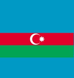 azerbaijan flag flat layout vector image