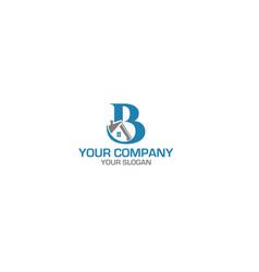 B home construction logo design vector