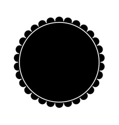 Badge frame round emblem decoration pictogram vector