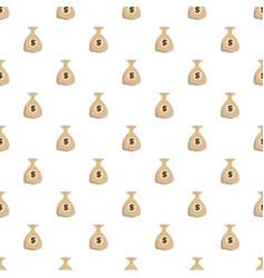 bag money pattern seamless vector image