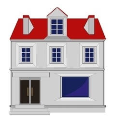 Big beautiful house vector image