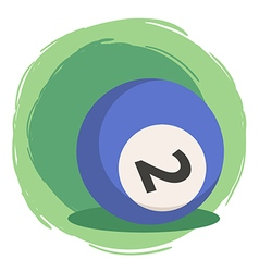 Billiard Ball Number 2 Blue vector